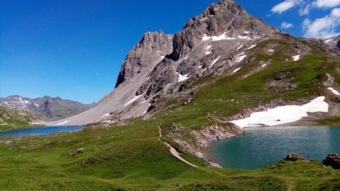lakes above refuge drayeres thabor french alps walking